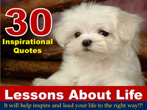 30 Inspirational Quotes On Lessons About Life!!!