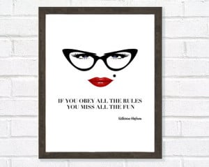 Quote, Inspirational Art, Motivational Print, Girly Gift, Black ...