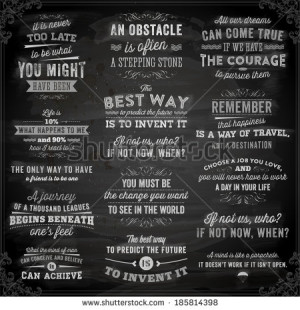 of Quotes Typographical Posters, Vector Design. Motivational Quotes ...