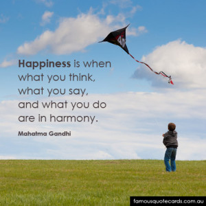 Happiness Gandhi Quotecard...