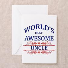 World's Most Awesome Uncle Greeting Card for