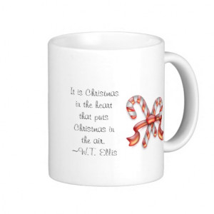 Candy Canes & Christmas Quote Mug
