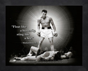 Muhammad Ali Boxing Quotes Framed Pro Quotes
