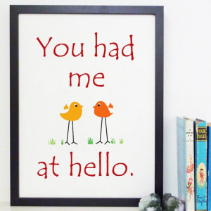 You Had Me At Hello Jerry Maguire Movie Quote by Artsunami, $25.00