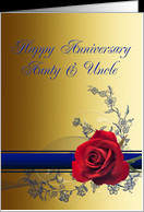 Aunt and uncle Wedding Anniversary , card - Product #389269