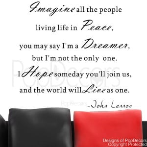 ... All the People Living Life in Peace-Vinyl Words and Letters Quote Dec