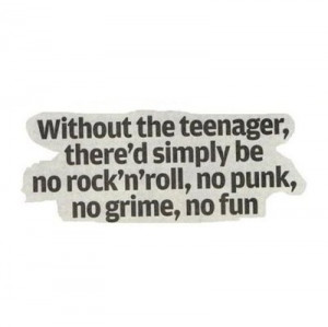 fun, grime, punk, quote, rock and roll, teenager, text, those would be ...