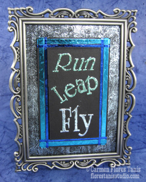 Favorite Sayings and Greetings: Framed Foiled Quote