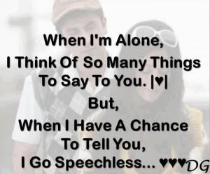 when i m alone