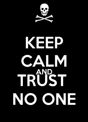 Trust No One Quotes Love On Broken Picture