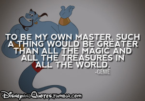 Showing Gallery For Disney Aladdin Genie Quotes