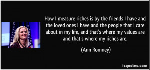 More Ann Romney Quotes