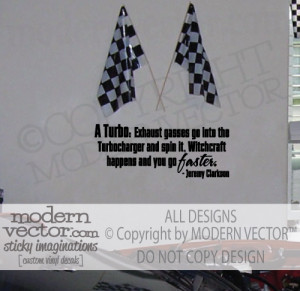 Details about JEREMY CLARKSON Quote Vinyl Wall Decal TOP GEAR TURBO