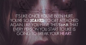 My Hurting Quotes It's Like Once You've Been Hurt, You're So ...