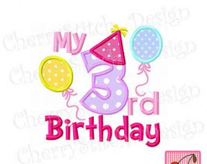 Happy 3rd Birthday Girl Quotes My 3rd birthday for girls