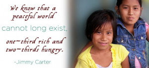 Human Rights - Quotes on Hunger - Jimmy Carter - human-rights Photo