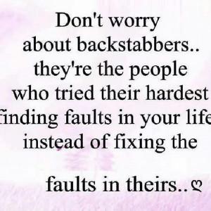 Backstabber Quotes Backstabbers