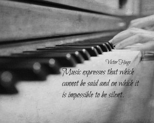 Music Quote Victor Hugo Print Piano Keys Photography Black White Music ...