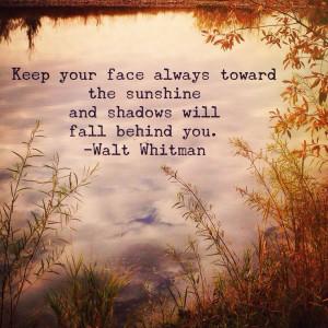 Wednesday Wisdom: Walt Whitman quote Photo: Amanda Hobbs Instagram.com ...