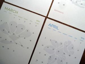 design-milk.com2011 Modern Calendars in home