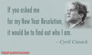 New Year's Resolution can be very powerful