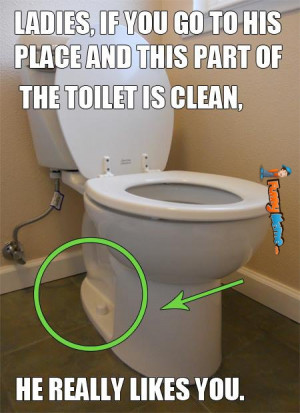 Funny memes – If this part of the toilet is clean