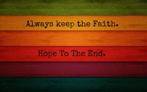 keep #faith #hope #art #colorful #wood #quote