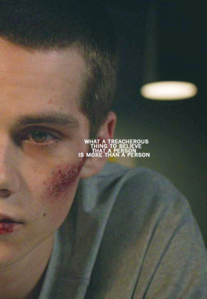 Dylan O'Brien in Teen Wolf.