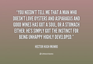 hector hugh munro quotes he s simply got the instinct for being ...