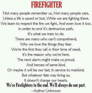 Firefighter wives sayings