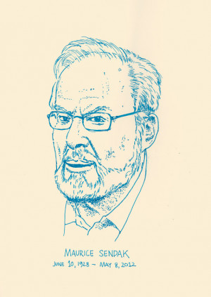 Maurice Sendak portrait by Paul Hornschemeier
