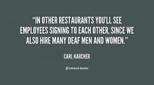 Quotes for Restaurant Staff