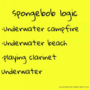 spongebob logic · underwater campfire · underwater beach ·playing ...