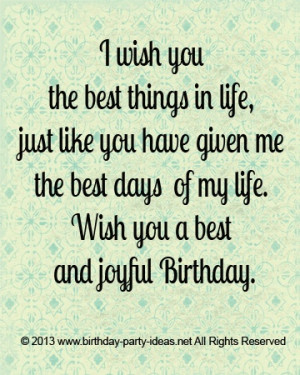 wish you the best things in life. Joyful birthday #Happybirthday #wish ...