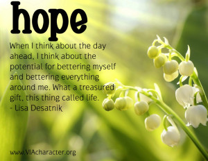 quote about hope from Lisa Desatnik