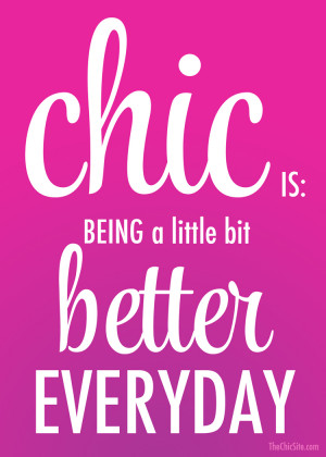 Chic Inspiration Pinable Quote Better Everyday