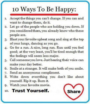 10 ways to be happy 10 ways to be happy