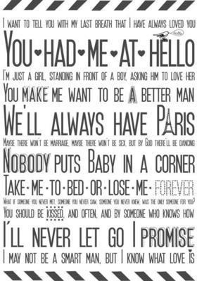 Movie Quotes Tea Towel, £12, from Hunkydory Home
