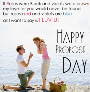 Propose Day 2014 SMS For Lovely Romantic Couples