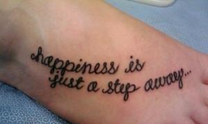 foot tattoo, happiness, molly, step, tattoo