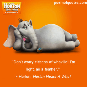 Funny Quotes From Horton Hears A Who!