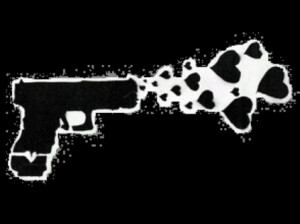 gun shooting hearts Image
