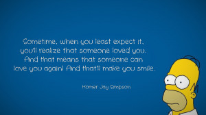 Homer Simpson Quote On Being Loved