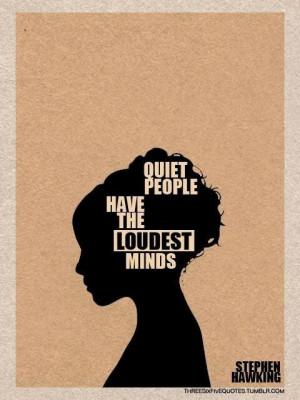 Quiet people!