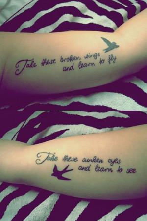 ... Beatles, Tattoo Ideas, Birds Tattoo, Friends Tattoo, Quote, Hands
