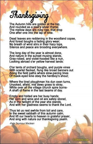 Thanksgiving poems 9