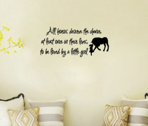 Love Horse Girls Western Decor - Say Quote Word Lettering Art Vinyl ...