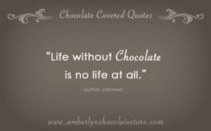 Life Without Chocolate… Chocolate Quote