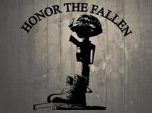 ... Helmet Rifle Boots Fallen Soldier Battle Cross Memorial Wall Sticker