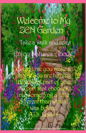 ... And Sayings: Famous Quotes About Life And The Picture Of The Garden